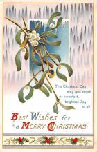 hol051463 - Christmas Postcard Old Vintage Antique Post Card