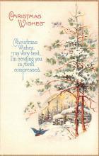 hol051465 - Christmas Postcard Old Vintage Antique Post Card
