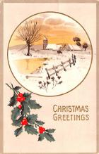 hol051471 - Christmas Postcard Old Vintage Antique Post Card