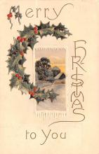 hol051473 - Christmas Postcard Old Vintage Antique Post Card