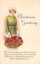 hol051475 - Christmas Postcard Old Vintage Antique Post Card