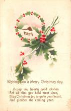 hol051477 - Christmas Postcard Old Vintage Antique Post Card