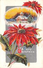 hol051481 - Christmas Postcard Old Vintage Antique Post Card