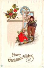 hol051485 - Christmas Postcard Old Vintage Antique Post Card