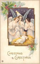 hol051487 - Christmas Postcard Old Vintage Antique Post Card