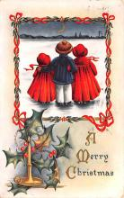 hol051489 - Christmas Postcard Old Vintage Antique Post Card