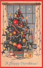 hol051491 - Christmas Postcard Old Vintage Antique Post Card
