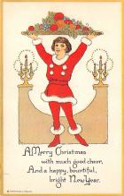 hol051493 - Christmas Postcard Old Vintage Antique Post Card