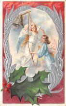 hol051495 - Christmas Postcard Old Vintage Antique Post Card