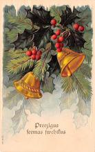 hol051497 - Christmas Postcard Old Vintage Antique Post Card