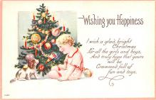hol051501 - Christmas Postcard Old Vintage Antique Post Card