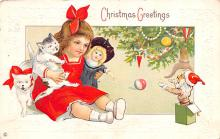hol051503 - Christmas Postcard Old Vintage Antique Post Card