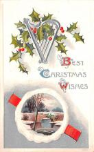hol051505 - Christmas Postcard Old Vintage Antique Post Card