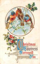 hol051507 - Christmas Postcard Old Vintage Antique Post Card