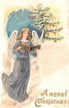 hol051513 - Christmas Postcard Old Vintage Antique Post Card