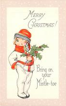 hol051519 - Christmas Postcard Old Vintage Antique Post Card