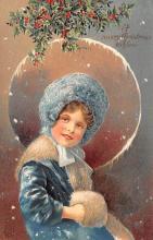 hol051521 - Christmas Postcard Old Vintage Antique Post Card