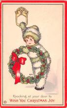 hol051523 - Christmas Postcard Old Vintage Antique Post Card