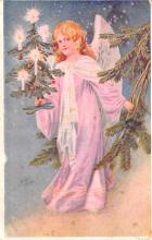 hol051525 - Christmas Postcard Old Vintage Antique Post Card