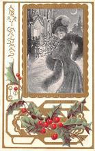 hol051529 - Christmas Postcard Old Vintage Antique Post Card