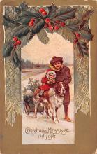 hol051531 - Christmas Postcard Old Vintage Antique Post Card