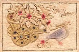 hol051537 - Christmas Postcard Old Vintage Antique Post Card