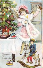 hol051541 - Christmas Postcard Old Vintage Antique Post Card