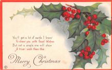 hol051543 - Christmas Postcard Old Vintage Antique Post Card