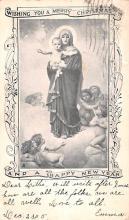 hol051549 - Christmas Postcard Old Vintage Antique Post Card