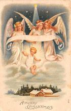 hol051553 - Christmas Postcard Old Vintage Antique Post Card