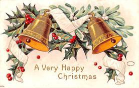 hol051555 - Christmas Postcard Old Vintage Antique Post Card