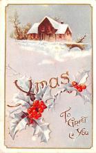 hol051561 - Christmas Postcard Old Vintage Antique Post Card