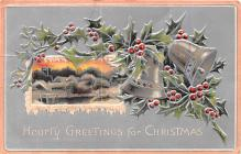 hol051565 - Christmas Postcard Old Vintage Antique Post Card