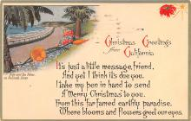 hol051567 - Christmas Postcard Old Vintage Antique Post Card