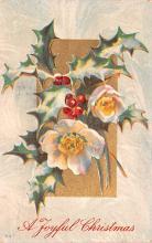 hol051575 - Christmas Postcard Old Vintage Antique Post Card