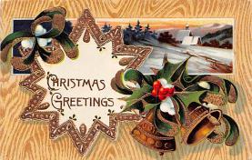 hol051579 - Christmas Postcard Old Vintage Antique Post Card