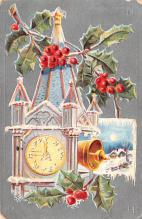 hol051587 - Christmas Postcard Old Vintage Antique Post Card