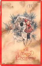 hol051589 - Christmas Postcard Old Vintage Antique Post Card