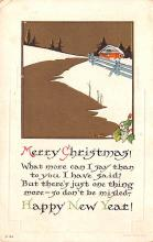 hol051595 - Christmas Postcard Old Vintage Antique Post Card