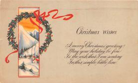 hol051599 - Christmas Postcard Old Vintage Antique Post Card