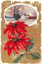 hol051601 - Christmas Postcard Old Vintage Antique Post Card