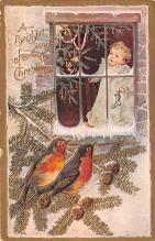 hol051611 - Christmas Postcard Old Vintage Antique Post Card