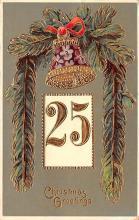 hol051619 - Christmas Postcard Old Vintage Antique Post Card