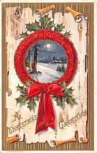 hol051621 - Christmas Postcard Old Vintage Antique Post Card