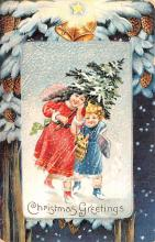 hol051629 - Christmas Postcard Old Vintage Antique Post Card