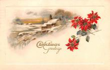 hol051643 - Christmas Postcard Old Vintage Antique Post Card