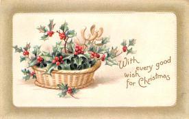 hol051645 - Christmas Postcard Old Vintage Antique Post Card