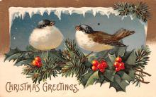 hol051649 - Christmas Postcard Old Vintage Antique Post Card