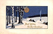 hol051651 - Christmas Postcard Old Vintage Antique Post Card