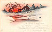 hol051655 - Christmas Postcard Old Vintage Antique Post Card